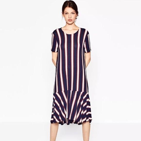 9c6821307ade Zara Dresses | Nwt Lightweight Knit Striped Dropwaist Dress | Poshmark